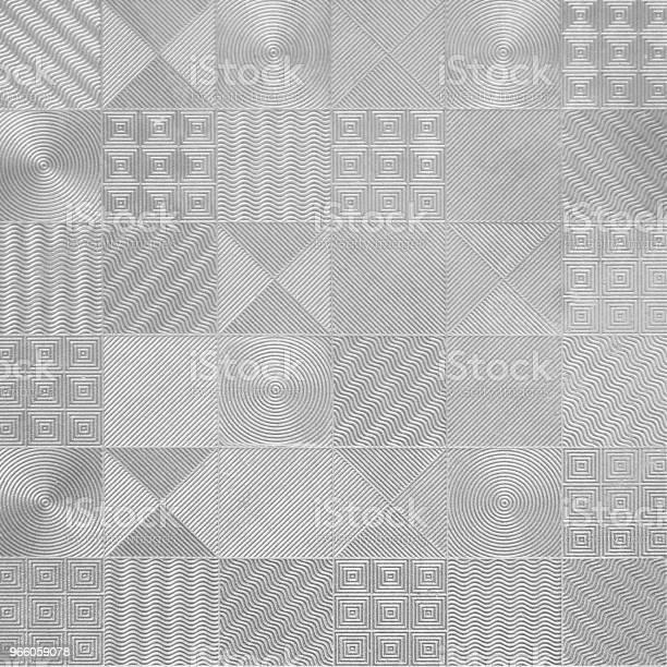 Muster Der Silbernen Fliesen Stockfoto und mehr Bilder von Abstrakt