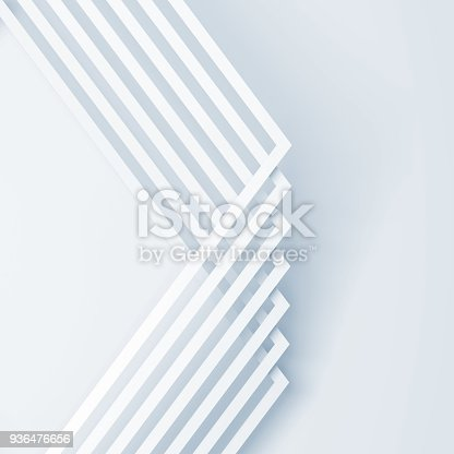istock Pattern of square white corners. 3d render 936476656