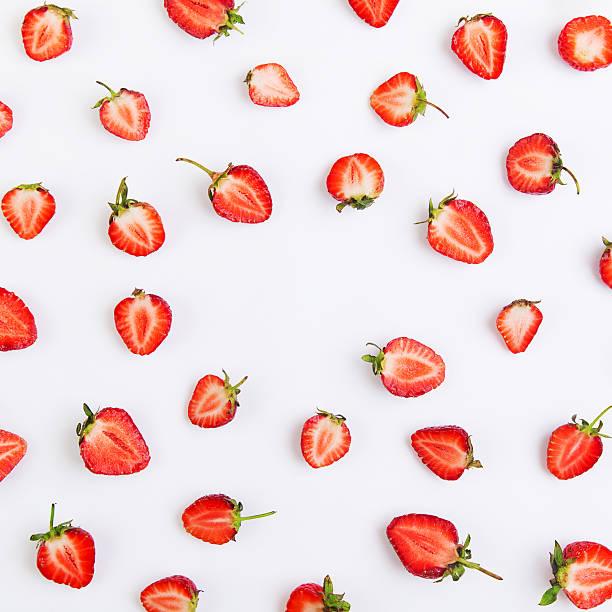 Pattern of strawberry foto