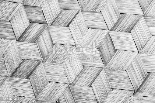 istock Pattern of Thai style natural bamboo handcraft background 537101017