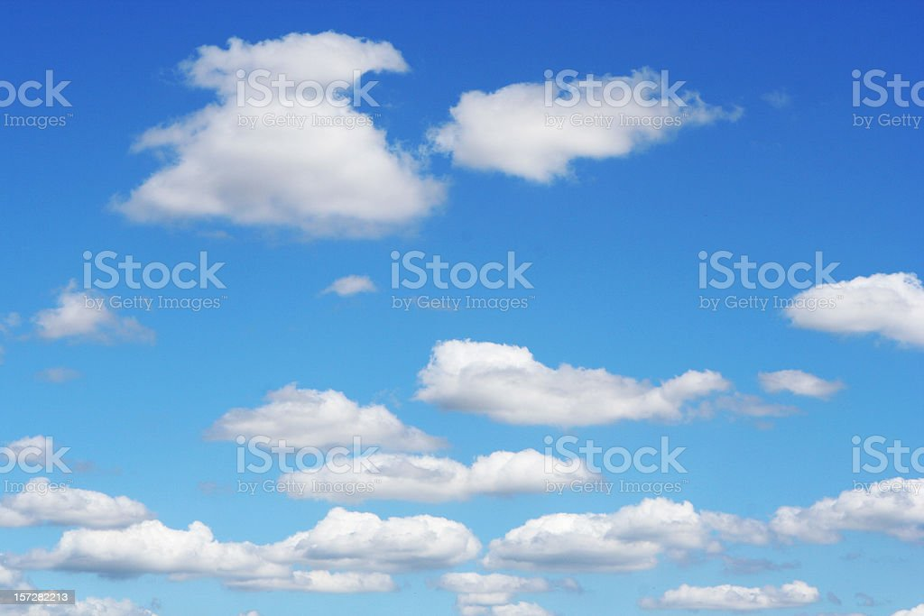 Pattern of White Fluffy Clouds royalty-free stock photo