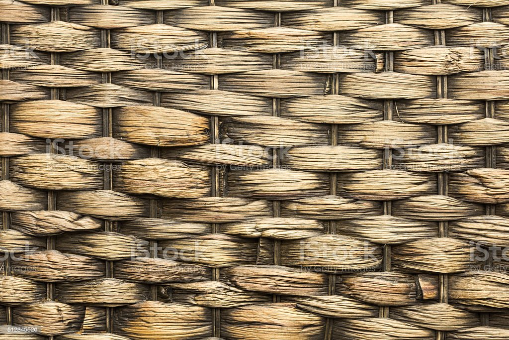 texture and pattern of woven rattan
