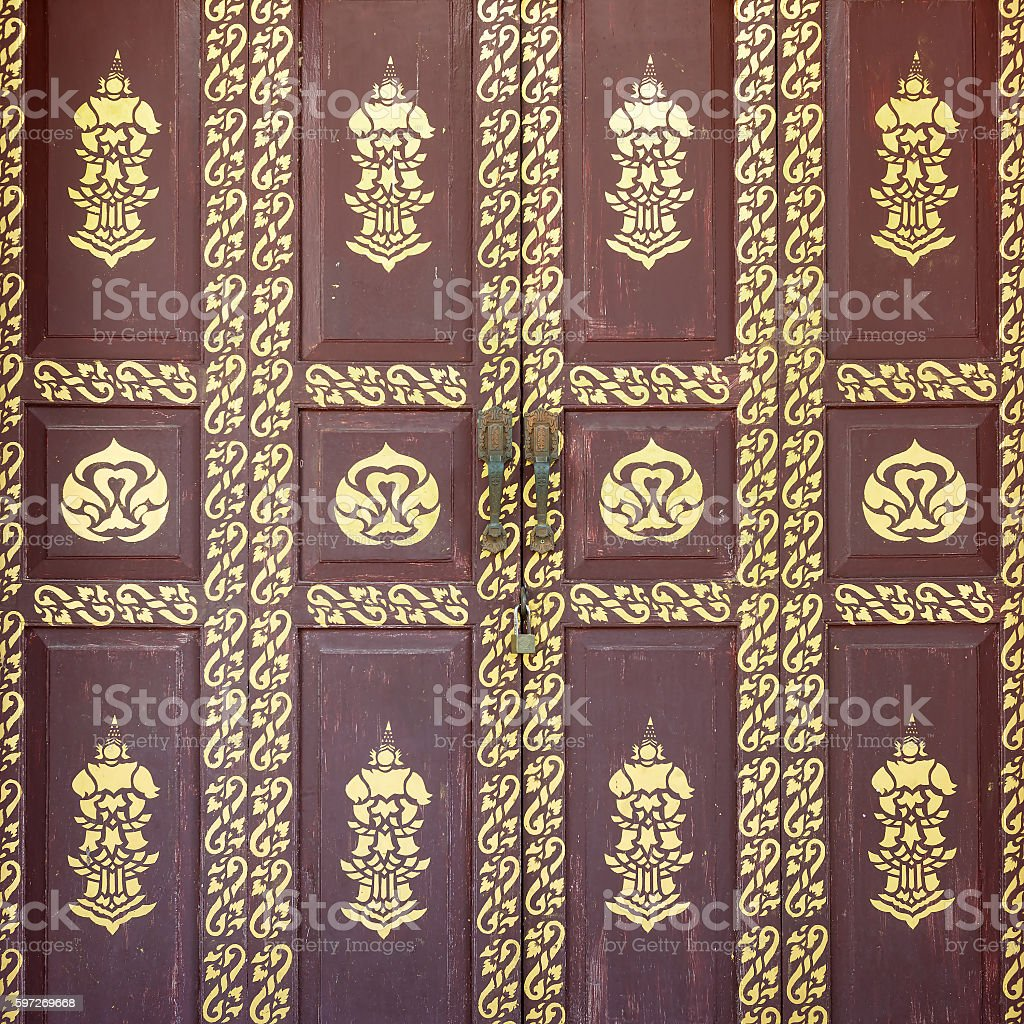 Pattern on door temple royalty-free stock photo