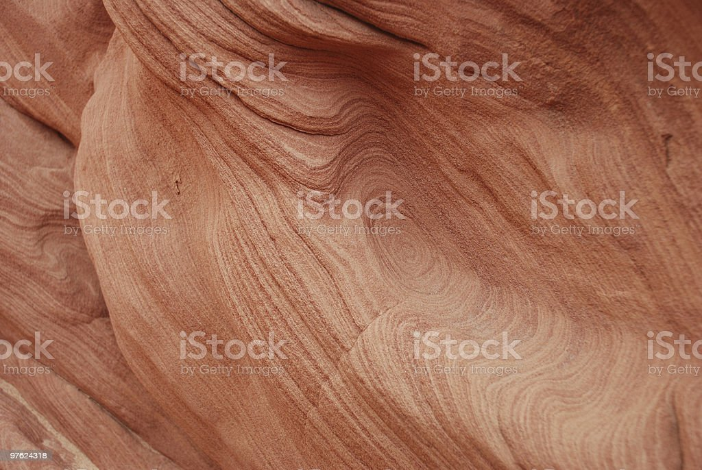 Pattern on Red Sandstone royalty-free stock photo