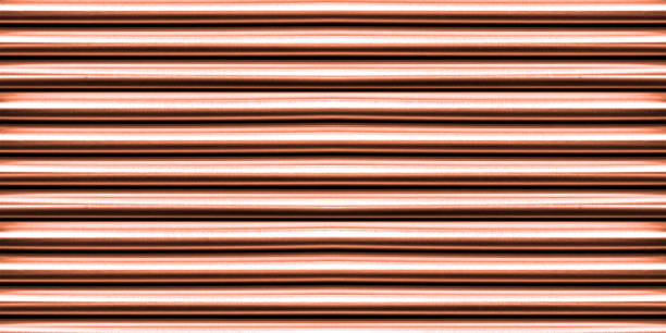 pattern shiny metal pipe background, top view. - pipe tube stock pictures, royalty-free photos & images