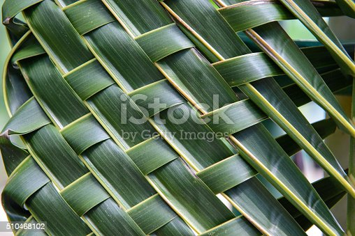 istock Pattern weave of coconut leaves 510468102