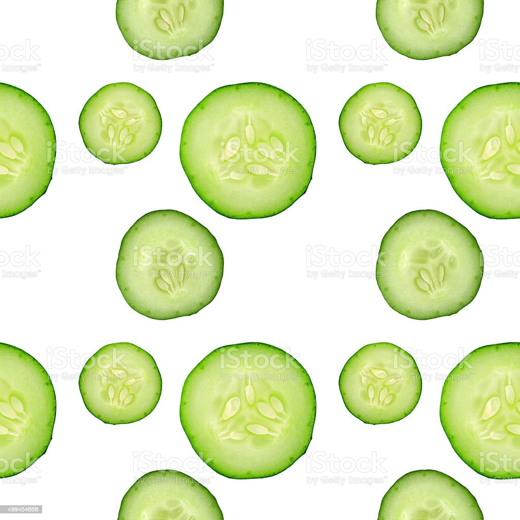 pattern with green cucumbers. stock photo