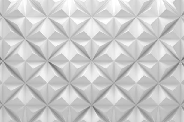 Pattern with rhombus pyramid triangle shapes stock photo