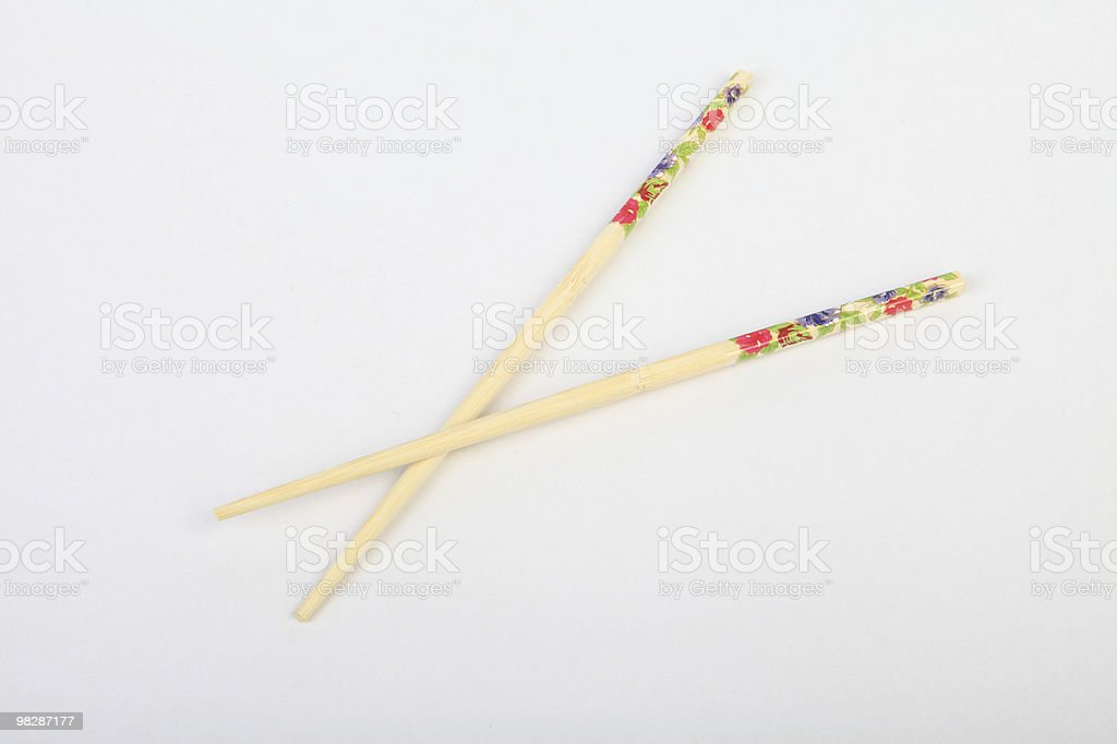 Pattern with the chopsticks royalty-free stock photo