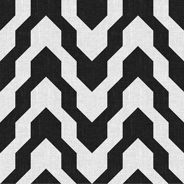Pattern with zig zag in black and white color stock photo