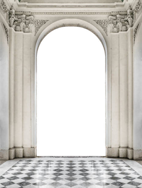 Patterned Floor and Classical Blank Entrance Patterned floor and classical style blank entrance building photo neo classical stock pictures, royalty-free photos & images
