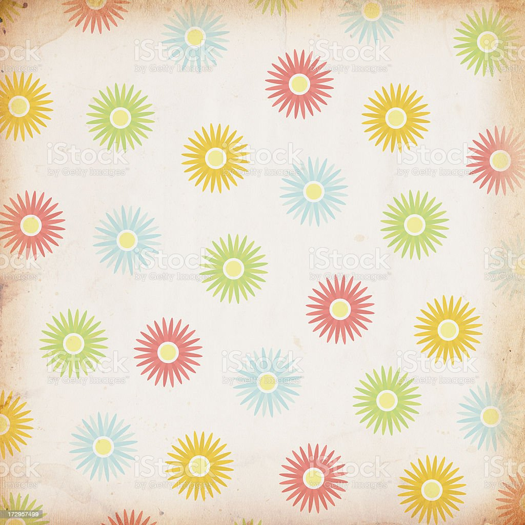 Patterned Flower Paper XXXL royalty-free stock photo
