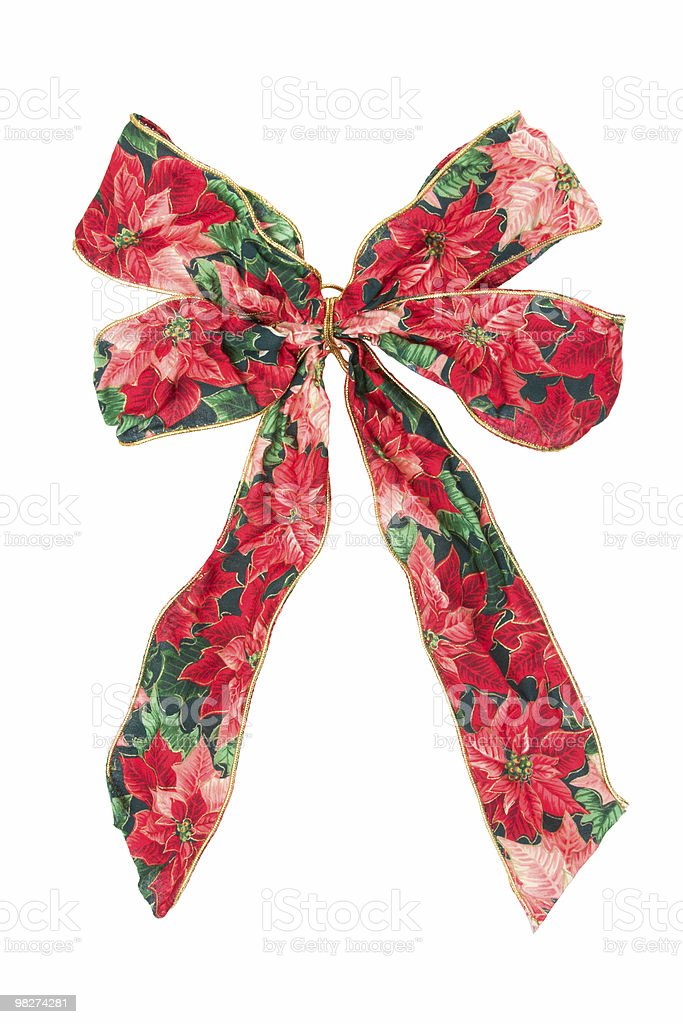 Patterned Holiday Ribbon royalty-free stock photo