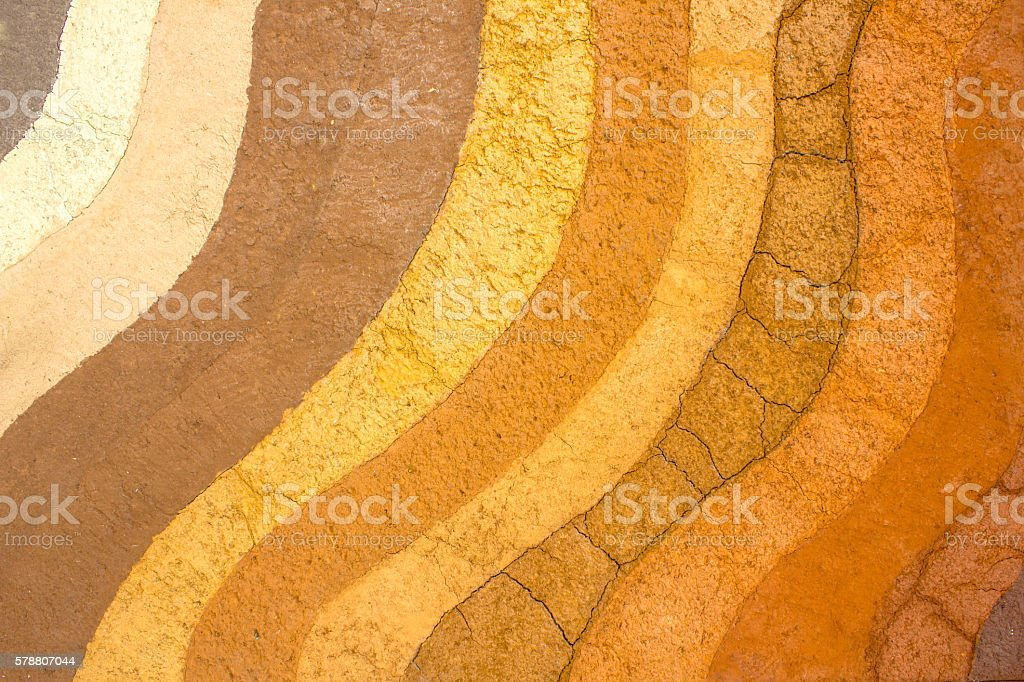patterned layer of clay soil for the background. stock photo