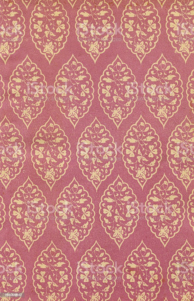 Patterned Old Paper royalty-free stock photo