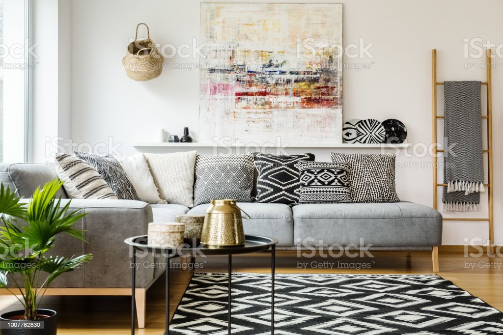 Cool Patterned Pillows On Grey Corner Sofa In Living Room Pdpeps Interior Chair Design Pdpepsorg