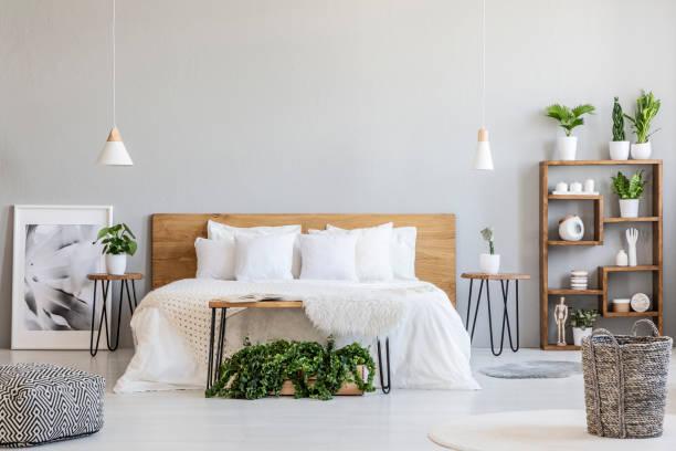 Patterned pouf and basket in bright bedroom interior with lamps and picture id1007179966?b=1&k=6&m=1007179966&s=612x612&w=0&h=d4xnip2tykaniayo8zdbt8fvfd syqjnndtgjncgr8i=