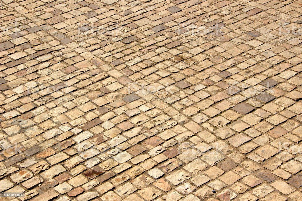 Patterned Stone Pavement stock photo
