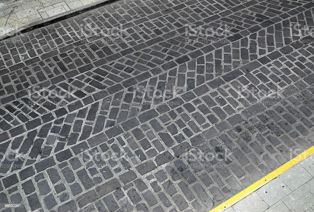 Patterned stone road detail. royalty-free stock photo