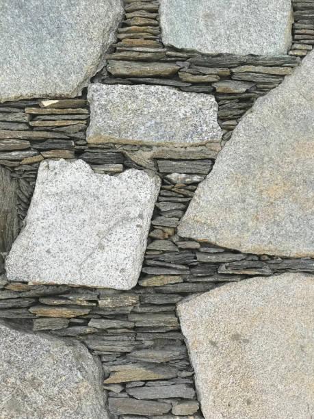 Patterned stone wall stock photo