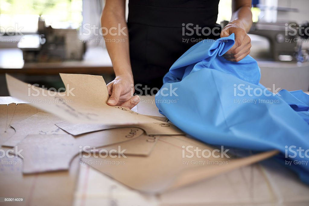 Pattern-making is a dying art stock photo