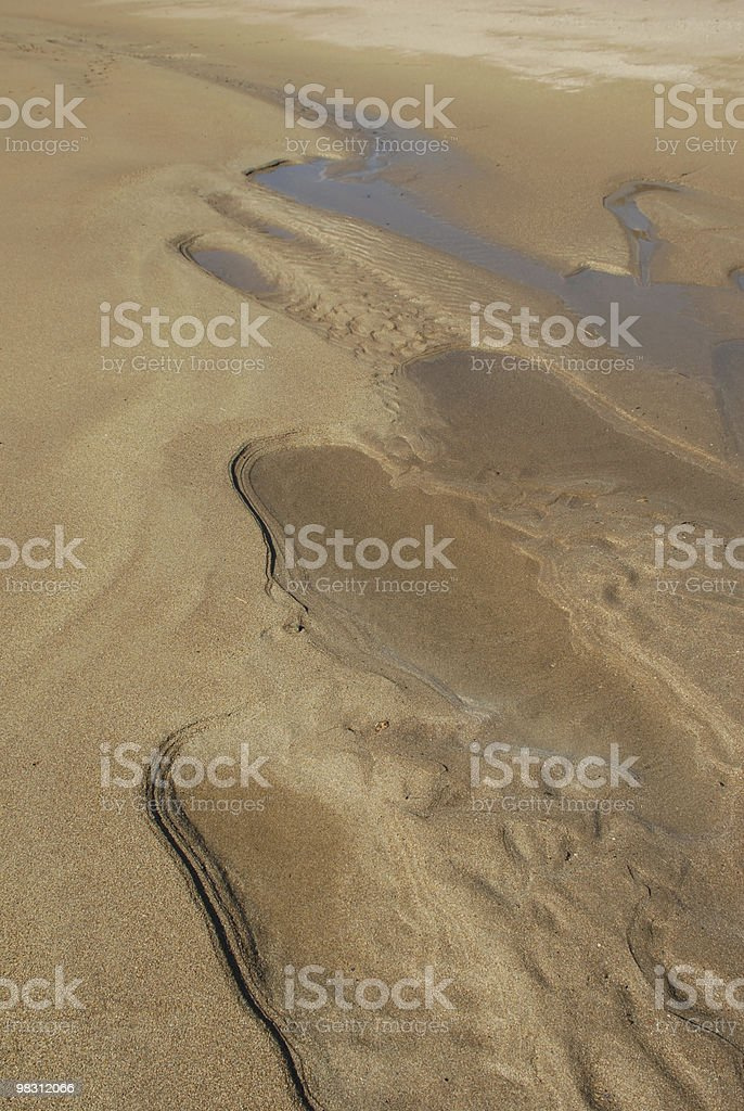 Patterns in the sand on a New England beach royalty-free stock photo