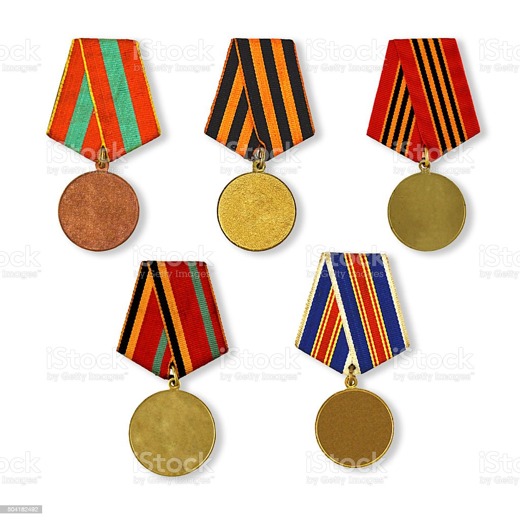 patterns medals stock photo