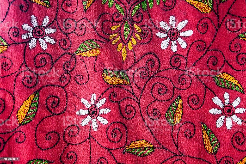 Patterns of fabric. stock photo