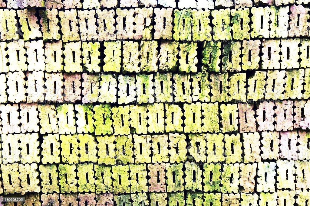 Patterns of stacked bricks royalty-free stock photo