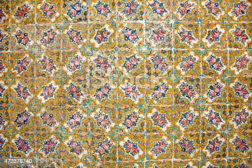 istock Patterns on ceramic tiles in the Persian style 472376740