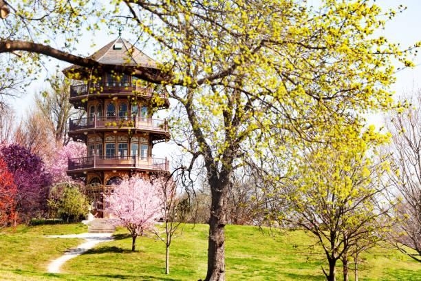 Patterson Park Pagode Turm im Frühling, Baltimore – Foto