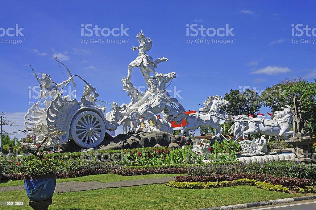 Patung Satria Gatotkaca Statue, Kuta, Bali stock photo