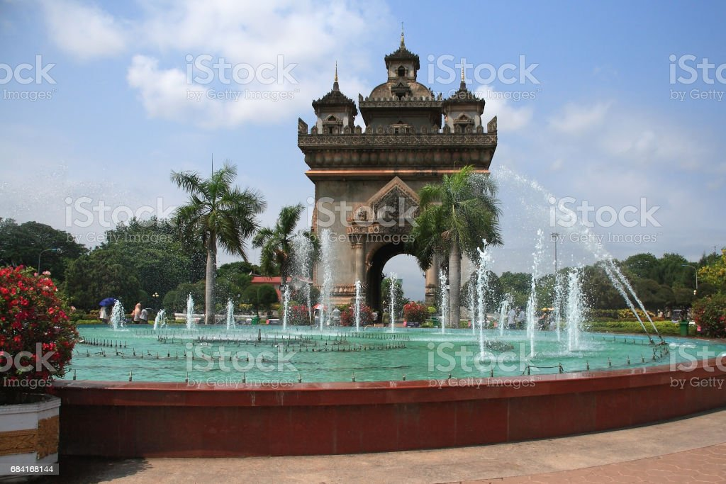 Patuxai victory monument foto stock royalty-free
