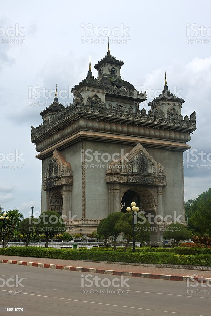 Patuxay monument royalty-free stock photo