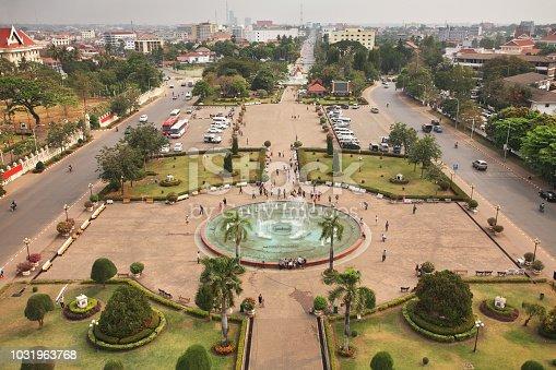 Patuxay (Patuxai) park in Vientiane. Laos