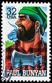 USA Paul Bunyan postage stamp