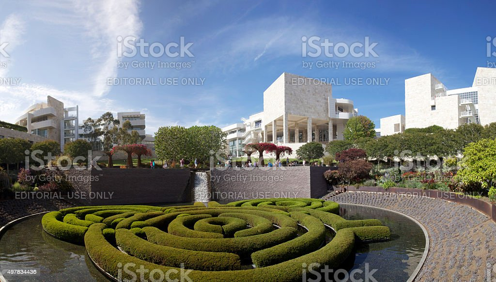 J. Paul Getty Museum Central Garden stock photo