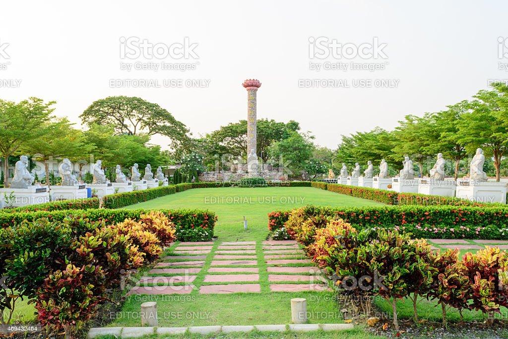 Paul keng Teng shrine in Nakhon Chaisi Thailand. stock photo