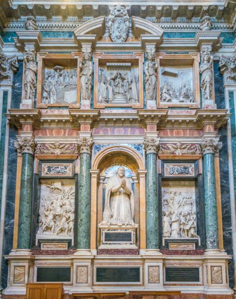 paul v. mausoleum in der kapelle borghese (paolina) in der basilika santa maria maggiore in rom. - römisch 6 stock-fotos und bilder