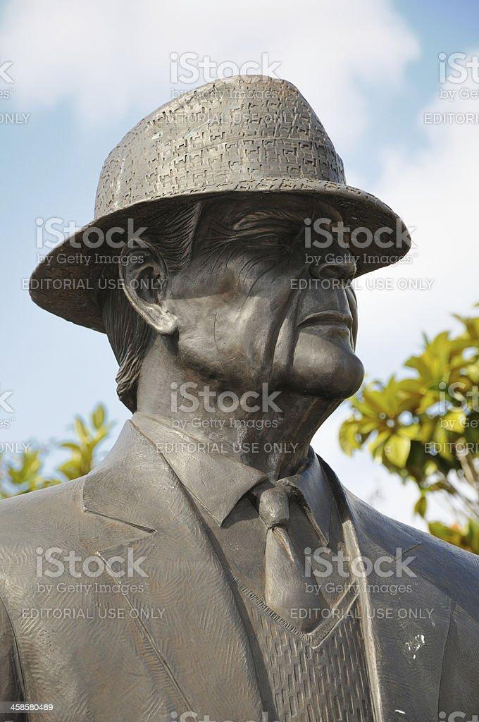 Paul W. Bryant Statue stock photo