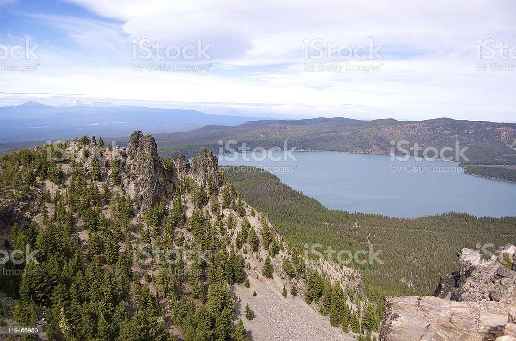Paulina Lake stock photo