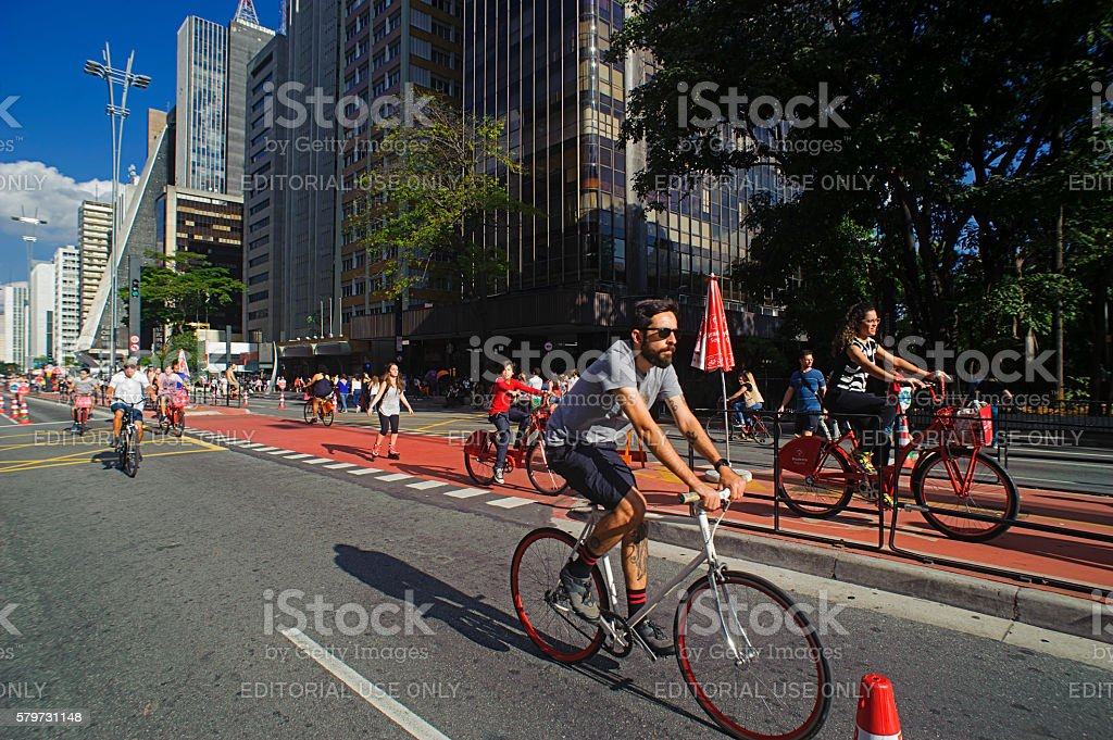 Paulista Avenue in Brazil stock photo