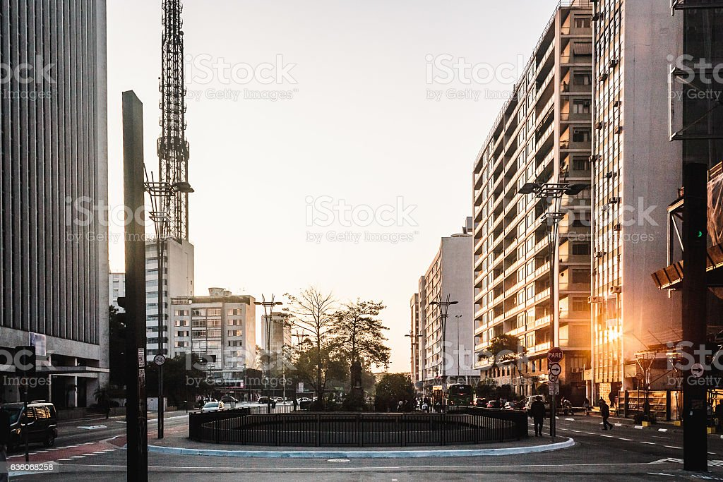 Paulista Avenue in Sao Paulo, Brazil stock photo