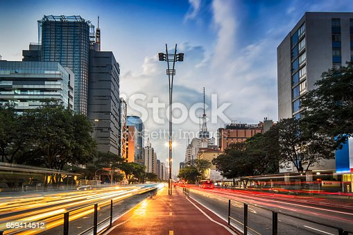 Photo taken at Paulista Avenue, Sao Paulo, Brazil.
