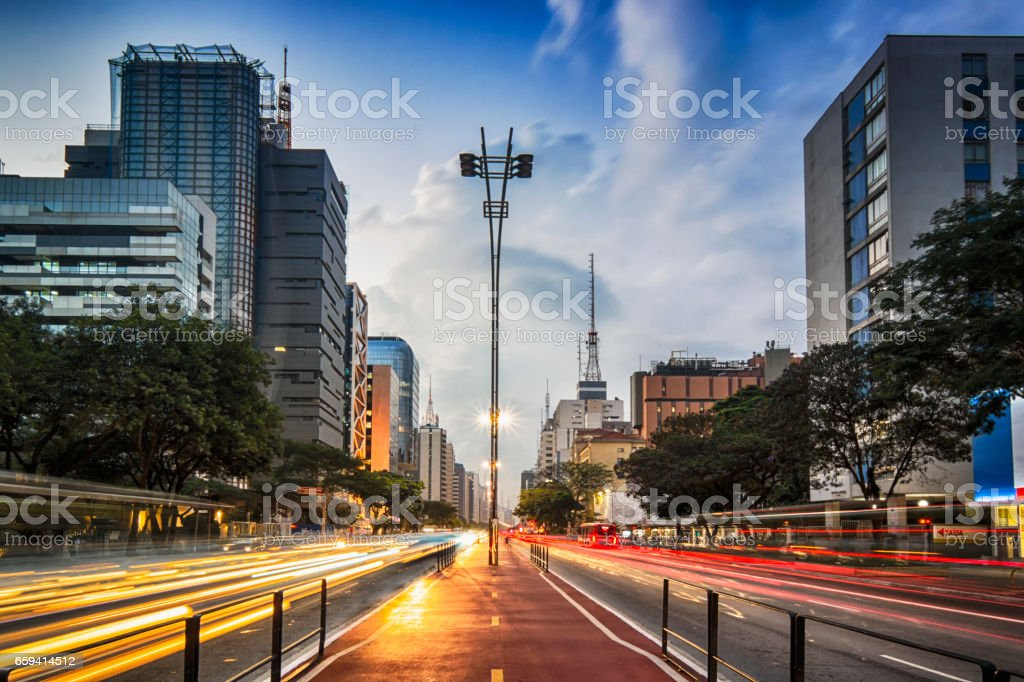 Paulista Avenue stock photo