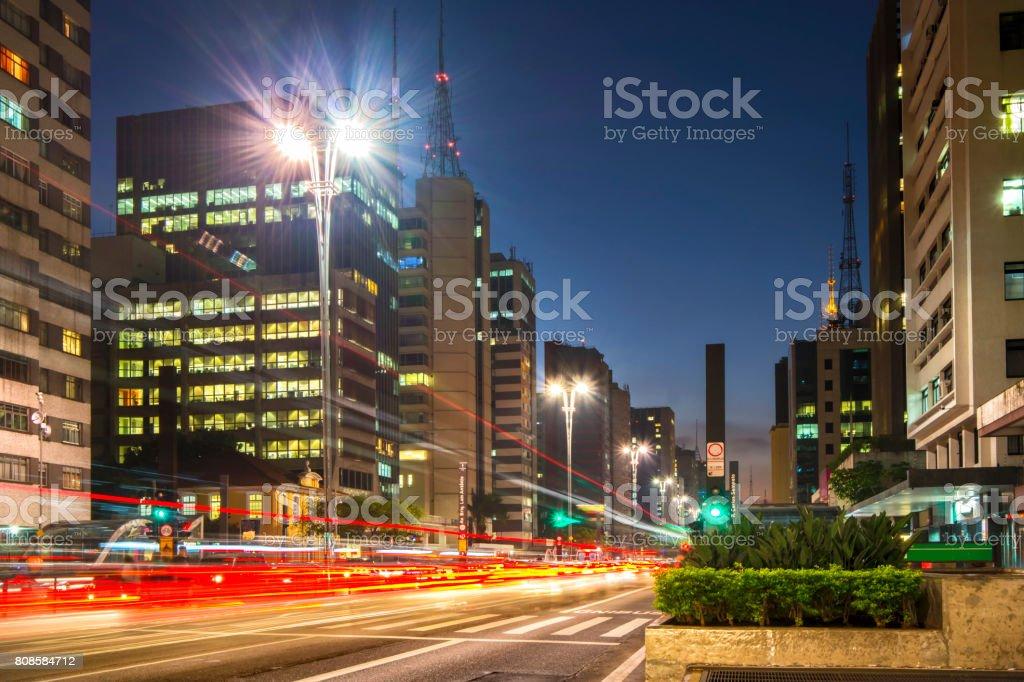 Paulista Avenue royalty-free stock photo
