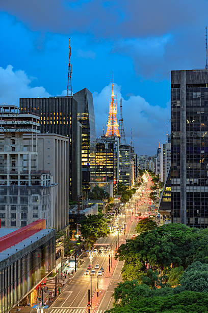 Paulista Avenue, Sao Paulo, Brasil stock photo