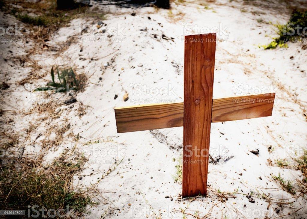 Pauper's grave stock photo