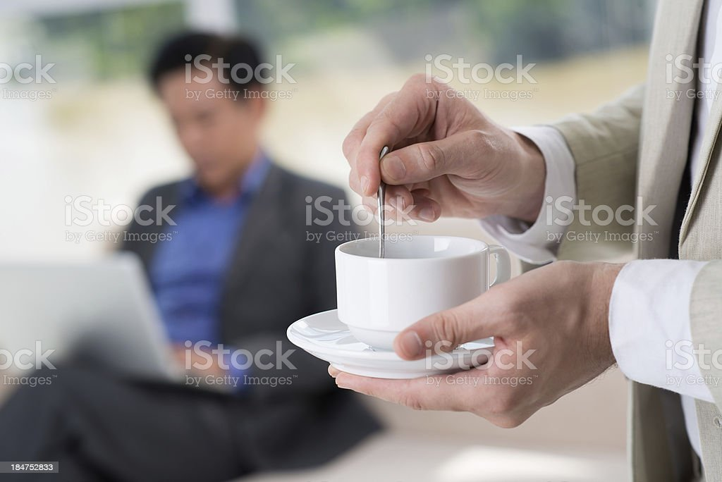 Pause at work royalty-free stock photo