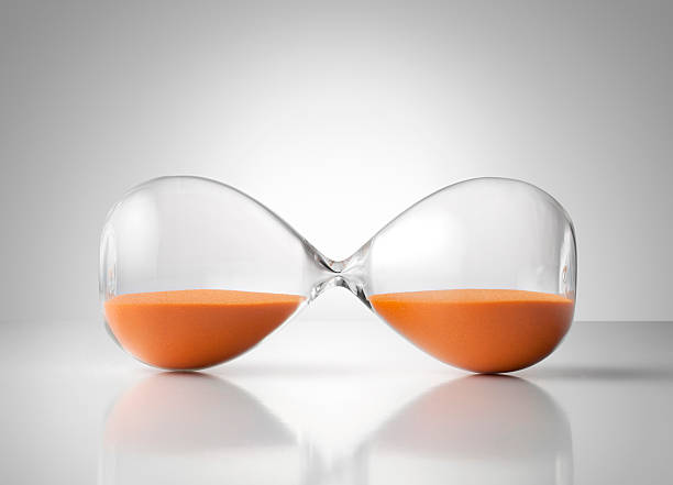 Pause. Hourglass. stock photo